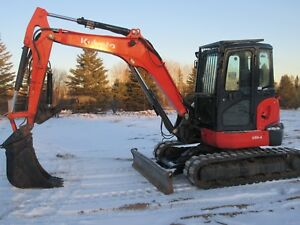 2013 Kubota U55 4 Midi Excavator 3136 Hrs Looks Runs Great
