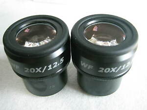 Pair Of Wf20x 12 5 Widefied Focusable Eyepiece Fit Zeiss leica nikon olympus30mm