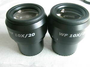 Pair Of Wf10x 20 Widefied Focusable Eyepieces Fits Zeiss leica nikon olympus30mm