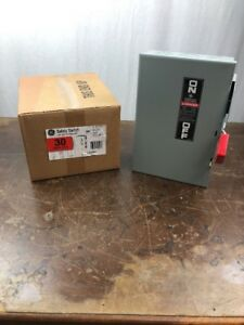 New Ge 30 Amp Fused Heavy Duty Safety Switch 600 Vac 3 Pole 3 Wire Th3361 In Box