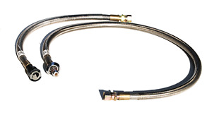94 95 Mustang Vortech Ss Braided Fuel Lines For Fuel Management Unit