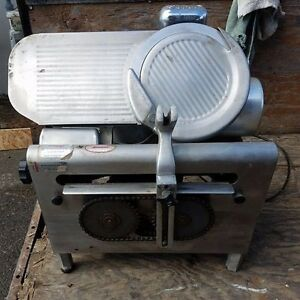 Globe Deli meat cheese Slicer Model 725 Working