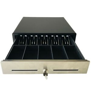 16 Pos Cash Drawer Stainless Steel removable Tray rj11 Cable bk1616b Beelta