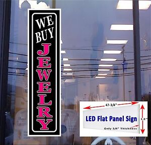 Led Sign We Buy Jewelry Window Sign 48x12 Neon Banner Alternative New Gen Leds