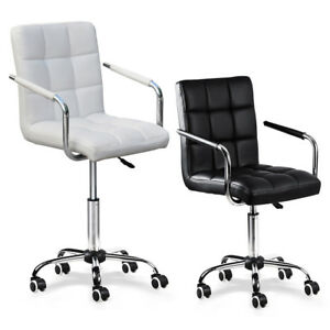Modern Office Desk Task Computer Chair Pu Leather Gas Lift Swivel Executive