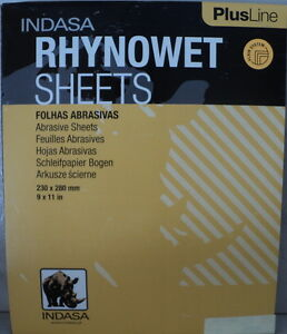 Indasa 9x11 1500 Grit Wet dry Sandpaper 50 Sheets Free Ship