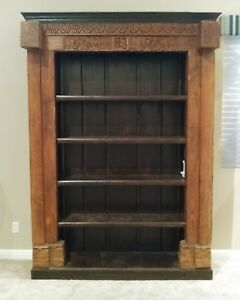 Huge Oversized Antique Indian Temple Door Frame Bookshelf