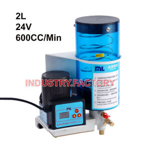 Grease Pump Oil Pump 2l 24v Electronic Automatic Machine Punching For Punch Cnc