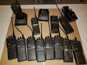12 Motorola Mts 2000 Flashport Radio Fire Police Chargers And Mic
