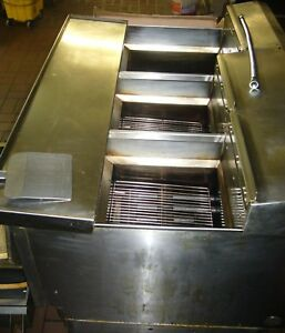 Commercial Natural Gas Ultra Fryer 3 Well With Filtration System
