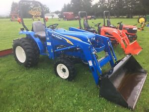 2010 New Holland T1510 4x4 Diesel Compact Tractor W Front End Loader