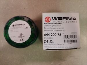 Werma Signaltechnik 644 200 75 Led Blinking Stack Light Green