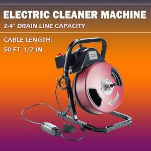 Drain Cleaner Machine 50ft 1 2 Electric Drain Auger Drain Cleaner Machine