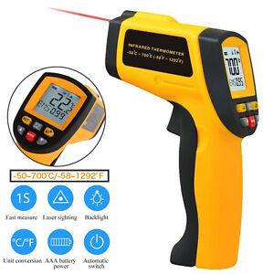 Digital Infrared Thermometer Non contact Handheld Ir Laser Temperature Gun