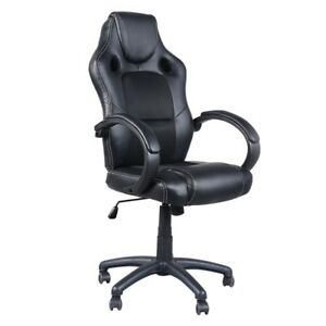 High Back Executive Swivel Chair Racing Chair Seat Home Office Furniture Black