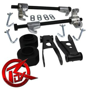 84 01 Jeep Cherokee Xj 3 F 2 R Shackles Leveling Lift Kit Coil Compressor