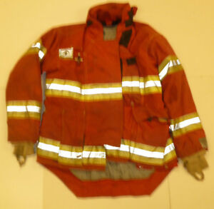 Morning Pride 44x35 Red Firefighter Jacket Bunker Turn Out Gear J549