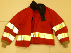 Cairns 56x38 Red Firefighter Jacket Bunker Turn Out Gear J543