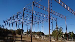 Metal Strong Solid Frame Building Hay Storage Barn Or Warehoiuse 80 x30 x25