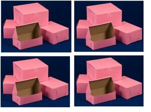 Pink Bakery Cake Boxes 7x7x4 New
