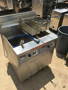 Frymaster Fp247 Esc Double Fryer built In Filtration Ng Costs Over 8k New