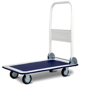 330 Lbs Platform Hauling Cart Luggage Dolly Foldable Warehouse Push Hand Truck