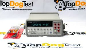 Hp Agilent Keysight 34401a 6 Dmm W Test Leads Warranty And Calibration Cert