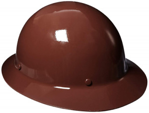 Msa 454672 Skullgard Protective Hard Hat Full Brim Staz on Suspension Standard