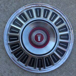 Vtg 1967 72 Ford Galaxie 500 Ltd 15 Wheel Cover Red Jewel Hubcap
