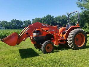 Clean Kubota Mx5000su Tractor With Loader Can Ship Cheap