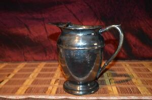 Vintage Viking Plate E P Copper Silverplate Water Pitcher 7 5 8 X7