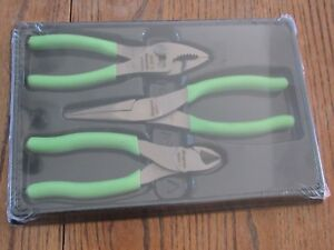 New Snap On Pl306acfg Pc Pl Green Handle Plier Cutter Set 86acf 96acf 46acf