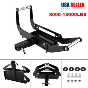 Foldable Winch Mounting Plate Cradle Mount For 2 Hitch Receiver 4wd Suv Atv