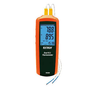 Extech Tm300 Type K j Dual Input Thermometer Compact Meter