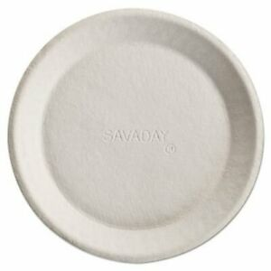 Chinet Savaday Molded Fiber Plates 10 White Round 500 Plates huh10117