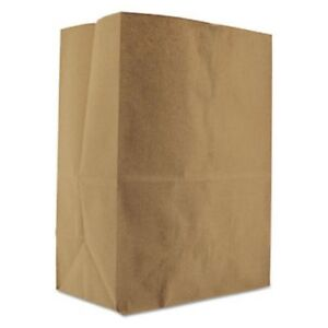 General Paper Grocery Bag 52 lb Kraft Standard 500 Bags bagsk1852