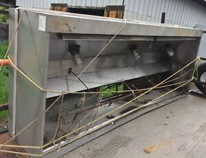 10 Return Makeup Exhaust Hood Restaurant Stainless Used hd528