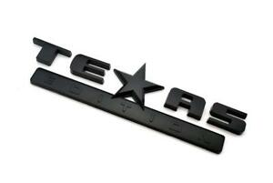 Gloss Blacked Out Texas Edition Emblem For Chevy Silverado Sierra Truck Decal