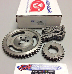 Chevy Small Block 265 283 305 350 327 Engines Timing Chain Set Melling 3 163s