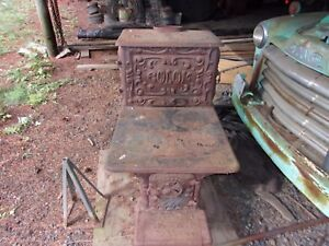 Antique Wood Cook Stove Very Ornate And All Cast Iron Good Condition All There