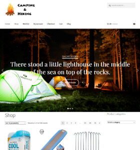 Camping And Hiking Website Business For Sale Unlimited Stock