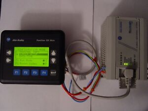 Allen Bradley Panelview 300 Micro 2711 m3a18l1 And Micrologix 1000 1761 l10bwa
