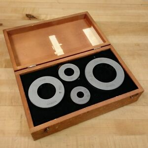 Brown Sharpe 7999 To 2 7999 Bore 4 Ring Gage Set Used