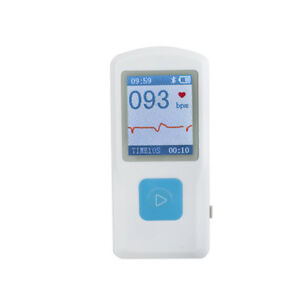 Contec Pm10 Portable Ecg Ekg Machine Heart Beat Monitor Usb Bluetooth Lcd Ce