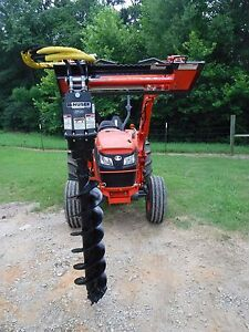 Kubota Tractor Attachment Danuser Ep 10 Hex Auger With 12 Bit Ship 199