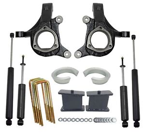 5 Lift Kit Chevy 1999 06 1500 2wd Truck 3 Spindles 2 Spacers 3 Blocks Shocks