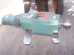 Reliance 2 Hp Dc Electric Motor 1811atz Frame 240 Volt 1750 Rpm Tach Generator