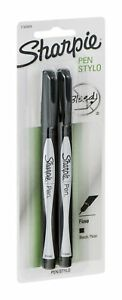 Sharpie Fine Point Pens Black Ink 2 Ea pack Of 18