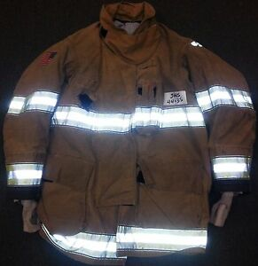 44x35 Firefighter Jacket Coat Bunker Turn Out Gear Globe Gxtreme J445