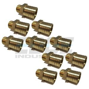 10 Pack 1 25 Hose Barb X 3 4 Male Npt Brass Pipe Fitting Npt Gas Fuel Air